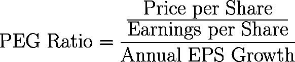 PEG ratio,PEGR,price/earnings to growth ratio,PETGR formula,equation,calculator