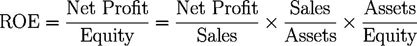 ROE DuPont,DuPont formula,strategic profit model,return on equity formula,equation,calculator