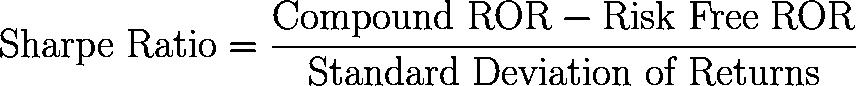 Sharpe ratio,SR,William F. Sharpe ratio formula,equation,calculator
