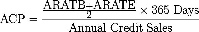平均收款期,平均收帐期 formula,equation,calculator