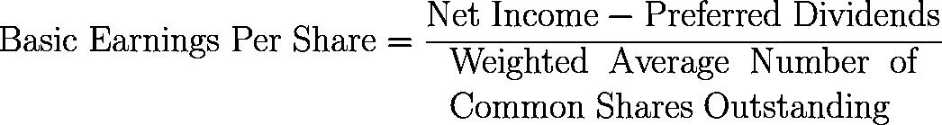 basic earnings per share,BEPS,Basic EPS formula,equation,calculator
