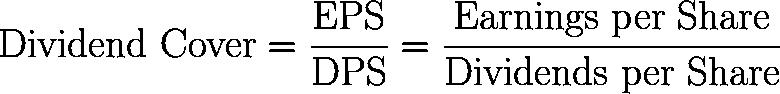 dividend cover,DC,dividend cover ratio,DCR formula,equation,calculator