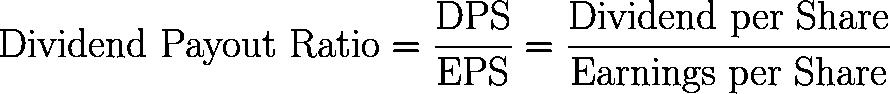 dividend payout ratio,DPR formula,equation,calculator