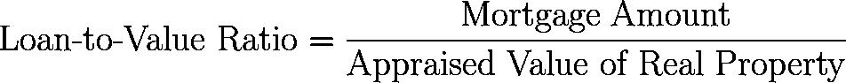 loan-to-value ratio,LTV,LTVR formula,equation,calculator