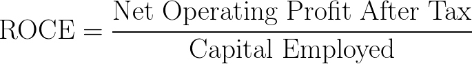 return on capital employed,ROCE formula,equation,calculator